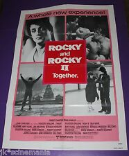 ROCKY AND ROCKY II MOVIE POSTER ORIGINAL ONE SHEET
