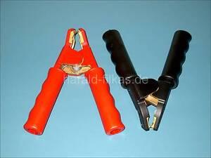 Set Winkel-Ladezange, Polzange, Batteriezange Vollisoliert 1000A Schwarz und Rot