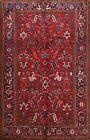 Vintage Geometric Heriz Traditional Area Rug Hand-knotted Wool Oriental 7x10 ft