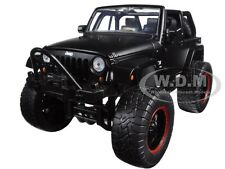 2007 JEEP WRANGLER WITH EXTRA WHEELS MATT BLACK 1/24 MODEL CAR BY JADA 97689