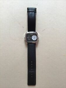 D&G Watch Black Leather Strap