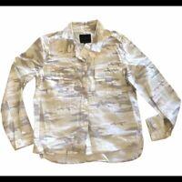 Sanctuary Shacket Womens Small Oversized Camo Shirt Jacket New Cotton