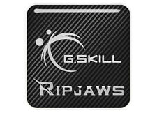 "G.Skill Ripjaws 1""x1"" Chrome Domed Case Badge / Sticker Logo"