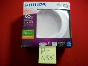"NEW IN OPEN BOX PHILIPS LED RECESSED RETROFIT TRIM 4"" 65W EQUIVALENT SOFT WHITE"