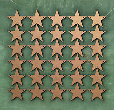 Le stelle 9 cm DUE FORI Bunting Laser Cut MDF Craft BIANCHI abbellimento