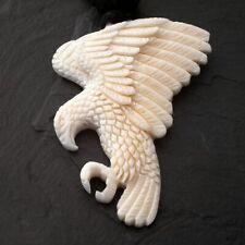 Adler Anhänger aus Knochen Herren Kette Western Indianer Schmuck Feder Amulett