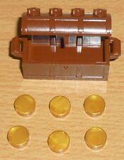 Lego Ritter 1 Schatztruhe /-kiste in neu braun mit Gold