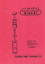 MWM Motor Ersatzteilliste  D226 D 226 4 Zylinder