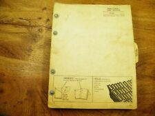 John Deere Jd 6300 & 6400 series blade service manual with 6305 parts catalog