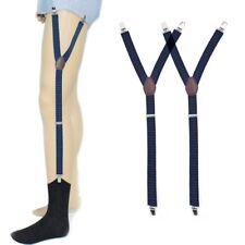 Mens Shirt Stays Holder Suspender Elastic Adjustable Garter Strap Sock Non-Slip