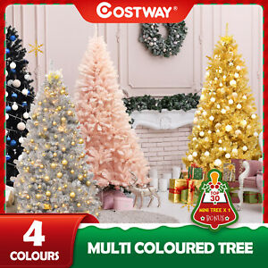Christmas Tree Artificial Xmas Tree Colorful Home Holiday Decor w/Metal Stand