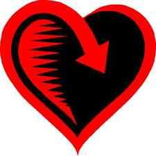 30 Custom Red Love Return Personalized Address Labels