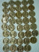 2007-2016 P  President Dollar Coins Complete Set (39) Unc. Bu. in two coin tubes