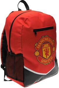 Official Manchester United F.C. School Bag Backpack Rucksack Gift for Him Her