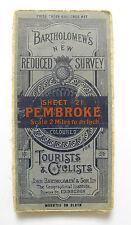 Bartholomew's New Reduced Survey Map of Pembroke - Vintage Cloth Map