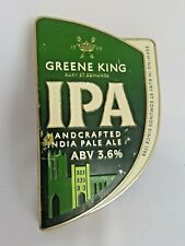 More details for greene king ipa handcrafted home bar badge font metal pump clip