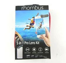 iPhone Galaxy 5 in 1 Rhombus Pro Lens Kit Wide Angle Macro Telephoto Fisheye