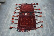 1'11 x 4'1 Feet Afghan Tribal Baluchi Wool Traditional. Home Decor Saddle Bag.