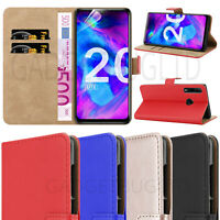 CASE FOR HONOR 20 LITE REAL GENUINE LEATHER SHOCKPROOF WALLET FLIP COVER