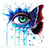 40*50cm Multi-colored Eye Paint By Numbers Kit Canvas Painting Home Decor