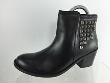 Matisse Womens Black Studded Leather Ankle Boots 8.5 M