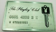 Vintage The Playboy Club Membership Metal Key Card RARE GOOD CONDITION