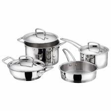 Stainless Steel Induction Friendly 4 Pcs. Set (Saucepan,Sauce Pot,Fry Pan,Kadai)