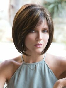Noriko Wig JOLIE $SALE$ Monofilament Top Modern Bob MSRP$300 New and Rooted