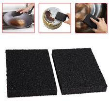 2pcs Magic Emery Foam Cleaner Rub Sponge Eraser Removing Pot Rust Brush Kitchen