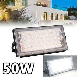 50W LED Lampe Projecteur Flood Light Lumière Extérieur Jardin Sécurité FR