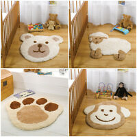 Childrens Nursery Rug With Super Soft Fleece in Natural Colours 75 x 80 cm Kids