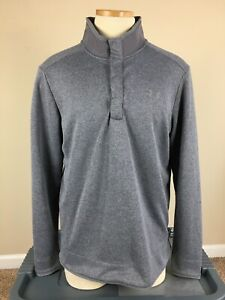 Under Armour Cold Gear Loose 1/4 Button Gray Pullover Jacket Men's Size L