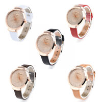 Women's Casual Stainless Steel Leather Watch Analog Quartz Fashion Wrist Watches