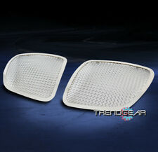 FOR 2006-2009 PONTIAC SOLSTICE MAIN UPPER STAINLESS MESH GRILLE GRILL CHROME 2PC