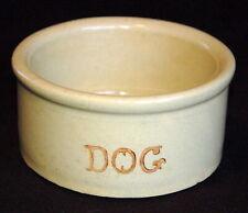 VINTAGE Heavy Stoneware DOG DISH ~ Ramsbottom ~ Roseville ~ 3 Cups