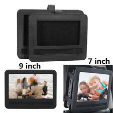 Coche Negro Soporte Reposacabezas de Funda para 7'' 9'' Reproductor DVD Portátil