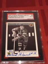 DOLLARD ST LAURENT AUTOGRAPHED 1992 ULTIMATE CARD-SGC SLAB-ENCAPSULATED-DECEASED