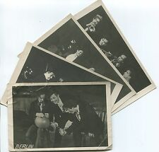 SET OF 4 MARC VAUX PHOTOGRAPHS POSTCARDS - BERLIN CABARET COMEDY MUSICIANS