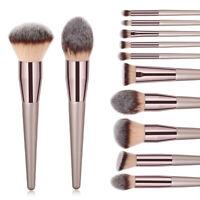 10pcs Pro Makeup Brushes Set Powder Foundation Blush Lip Contour Blending Brush