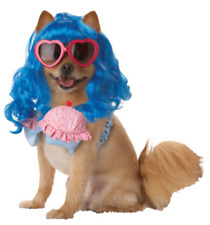 Pet Dog Funny Pup-A-Razzi Cupcake Girl Super Pop Star Costume W/ Glasses