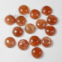 10 piece lot natural sunstone round shape loose gemstone cabochon sunstone cabs