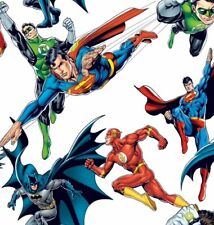 Little Johnny Justice league Hero's 100% Craft Cotton Spiderman Batman superman