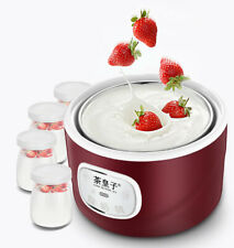 Home Yogurt Maker Machine Automatic Electric 1L Stainless Steel Container DIY