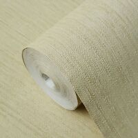 yellow Faux Grasscloth wallpaper Textured non woven wall coverings double rolls