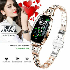 LEMFO Women Gold Smart Watch Wristband Fitness Heart Rate Blood Pressure Tracker