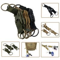 Carabiner Hook Webbing Buckle Nylon Molle Belt Hanging Key Ring Clip Outdoor LJ