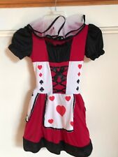 Wonderland Costumes Girls Playing Card Cutie Costume Neck Ruffle Size 8-10 EUC
