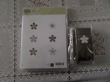 "BNIP Stampin' Up ""PETITE PETALS"" Clear Stamp Set w/Matching Punch"