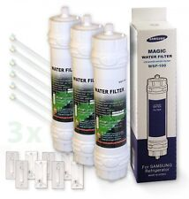 3x ORIGINALE Samsung WSF 100 MAGIC Filtro acqua frigorifero SBS