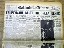 6 1936 hdl newspapers LINDBERGH BABY KILLER Sentenced TO DEATH in ELECTRIC CHAIR